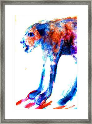 I Am Not A Beast So Please Don't Kill Me  Framed Print by Hilde Widerberg