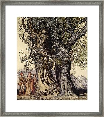 I Am Old Philemon! Murmured The Oak Framed Print by Arthur Rackham