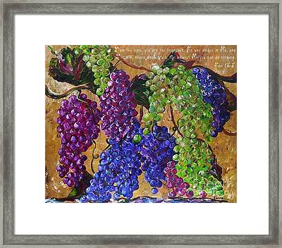I Am The Vine Framed Print by Eloise Schneider