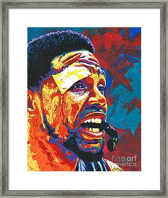 I Bleed Heat Framed Print by Maria Arango