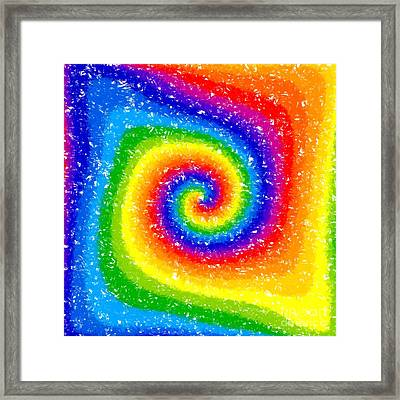 I Can See A Rainbow Framed Print by Chris Butler