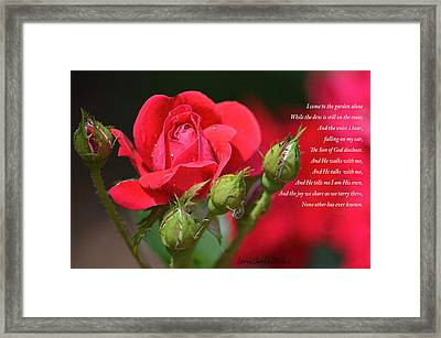 I Come To The Garden Alone Framed Print by Lena Wilhite