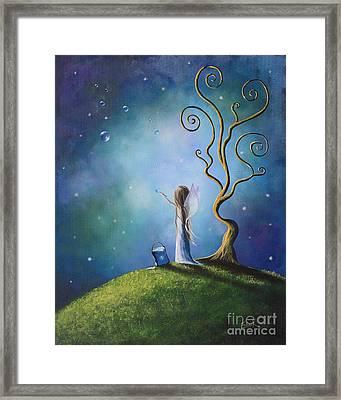 Original Fairy Art Print By Shawna Erback Framed Print by Shawna Erback