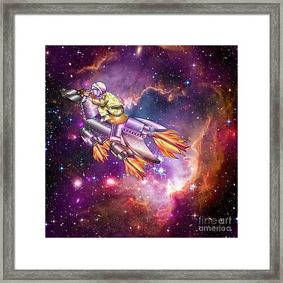 I Dream Of Rockethorse Framed Print by Laura Brightwood