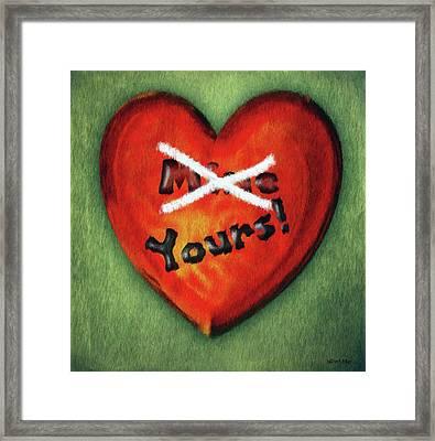 I Gave You My Heart Framed Print by Jeff Kolker