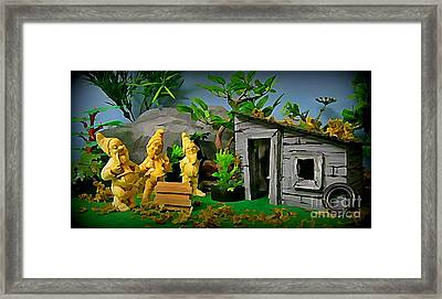 I Guess Dopey Didn't Look Good On Their Lawn Framed Print by John Malone