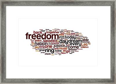 I Have A Dream By Martin Luther King Framed Print by Florian Rodarte