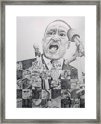 I Have A Dream Martin Luther King Framed Print by Joshua Morton