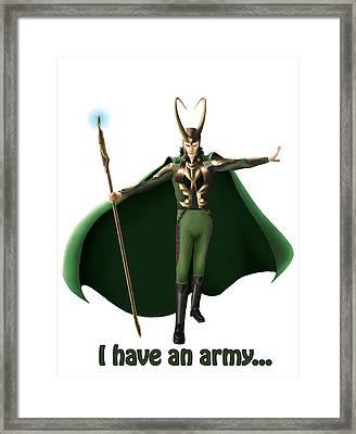 I Have An Army... Framed Print by Kayleigh Semeniuk