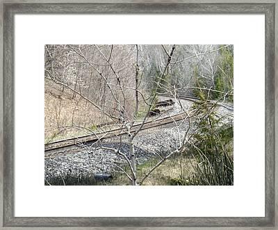 I Hear The Train Framed Print by Brenda Brown