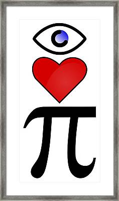 I Heart Pi Framed Print by Ron Hedges
