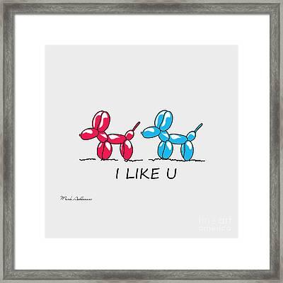 I Like U  Framed Print by Mark Ashkenazi