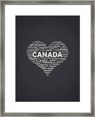 I Love Canada Framed Print by Aged Pixel