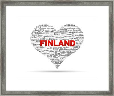 I Love Finland Framed Print by Aged Pixel