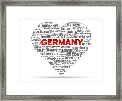 I Love Germany Framed Print by Aged Pixel