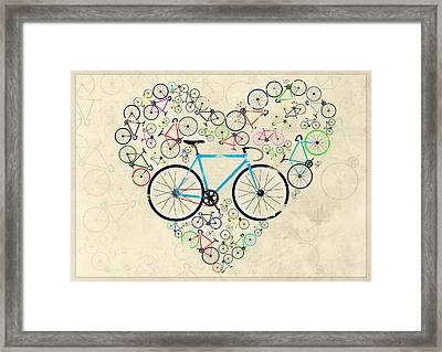 I Love My Bike Framed Print by Andy Scullion