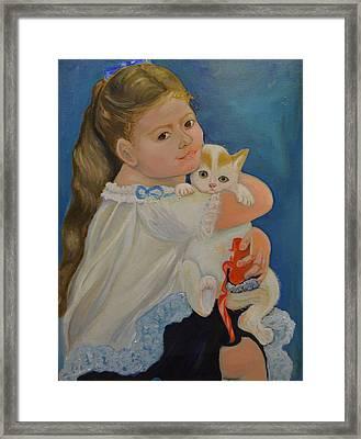 I Love My Kitty Framed Print by Karen Norberg