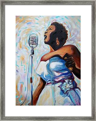 I Love The Blues Framed Print by Emery Franklin