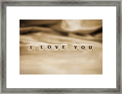 I Love You Framed Print by Natalie Kinnear