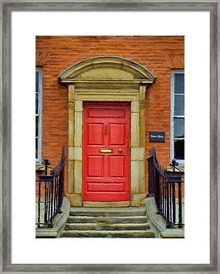I See A Red Door Framed Print by Jeff Kolker