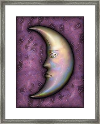 Man In The Moon Framed Print featuring the digital art I See The Moon 2 by Wendy J St Christopher
