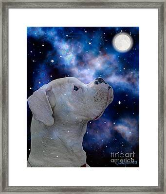 I See The Moon Framed Print by Judy Wood