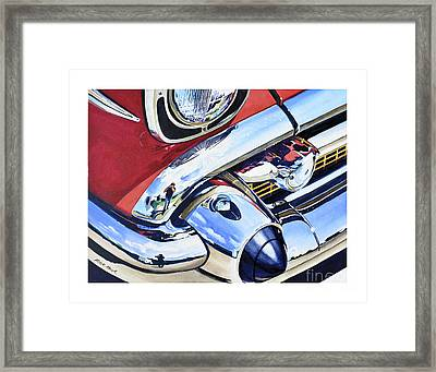 I Shot The Chevy Framed Print by Rick Mock