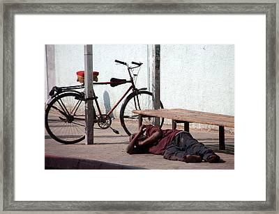 I Think I'll Stay Here Framed Print by Jez C Self