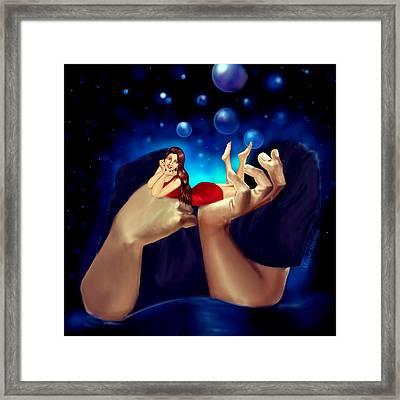 I Think Of U And U Think Of Me  Framed Print by Mayur Sharma