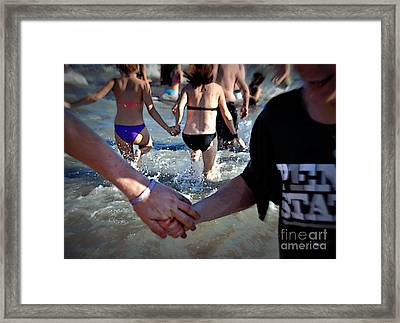 I Wanna Hold Your Hand Framed Print by Nanette Emerle