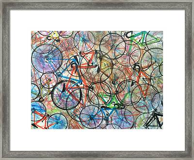 I Want To Ride My Bicycle Bicycle  Framed Print by Scott French