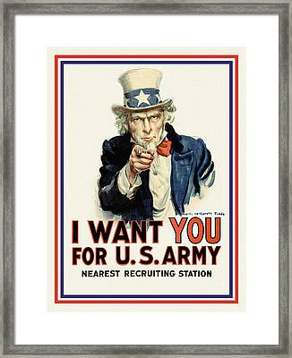 I Want You Framed Print by Gary Grayson