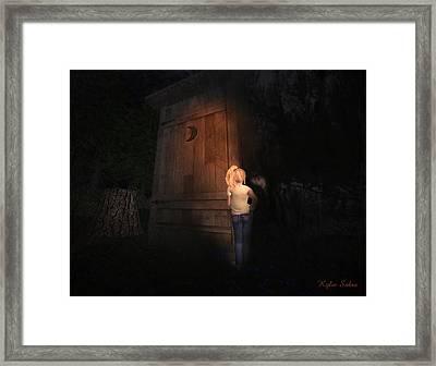 I Was Six Framed Print by Kylie Sabra