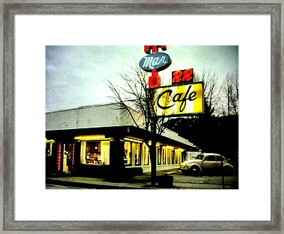 I Went For Breakfast At The Double R Framed Print by Luis Ludzska