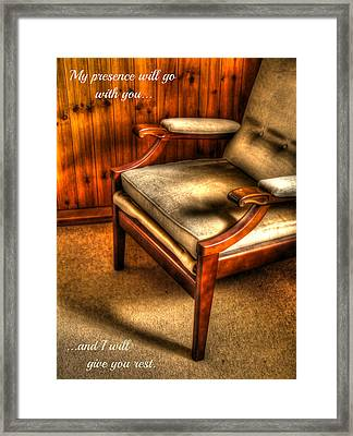 I Will Give You Rest Framed Print by Anne Macdonald