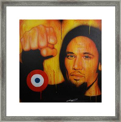 Ben Harper - ' I Will Look The World Straight In The Eye ' Framed Print by Christian Chapman Art
