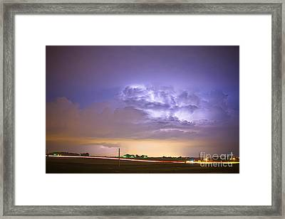 I25 Intra-cloud Lightning Strikes Framed Print by James BO  Insogna