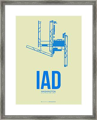 Iad Washington Airport Poster 1 Framed Print by Naxart Studio