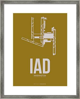 Iad Washington Airport Poster 3 Framed Print by Naxart Studio