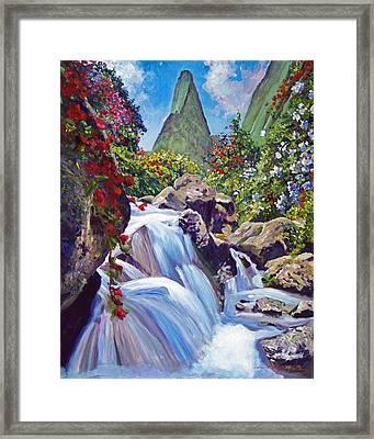 Iao Needle Maui Framed Print by David Lloyd Glover
