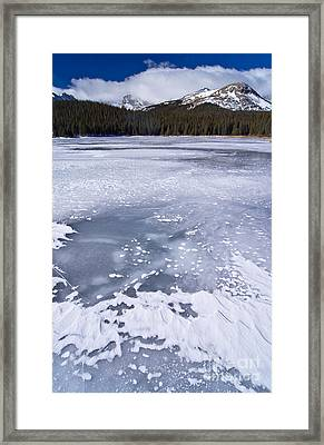 Ice And Snow Of Brainard Lake Framed Print by Benjamin Reed
