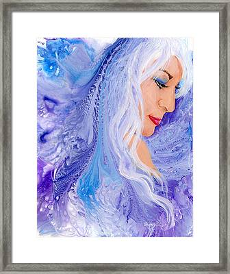 Ice Angel Framed Print by Sherry Shipley