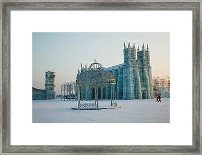 Ice Cathedral At The Harbin Framed Print by Panoramic Images