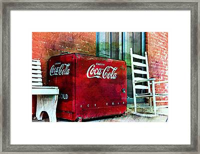 Ice Cold Coca Cola Framed Print by Benanne Stiens