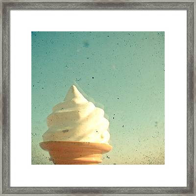 Ice Cream Framed Print by Cassia Beck