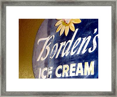 Ice Cream Sign Framed Print by Dorothy Menera