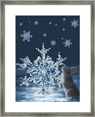 Ice Crystals Framed Print by Veronica Minozzi