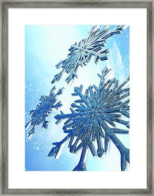 Ice Crystals Framed Print by Victor Habbick Visions