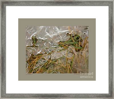 Ice Edges-iii Framed Print by Patricia Overmoyer