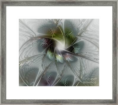 Ice Flower Framed Print by Karin Kuhlmann
